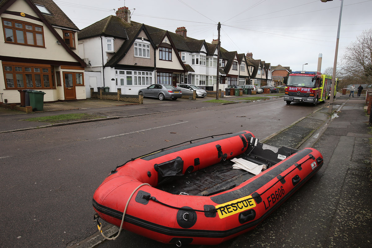 Rescue boat in Lower Hall Lane.