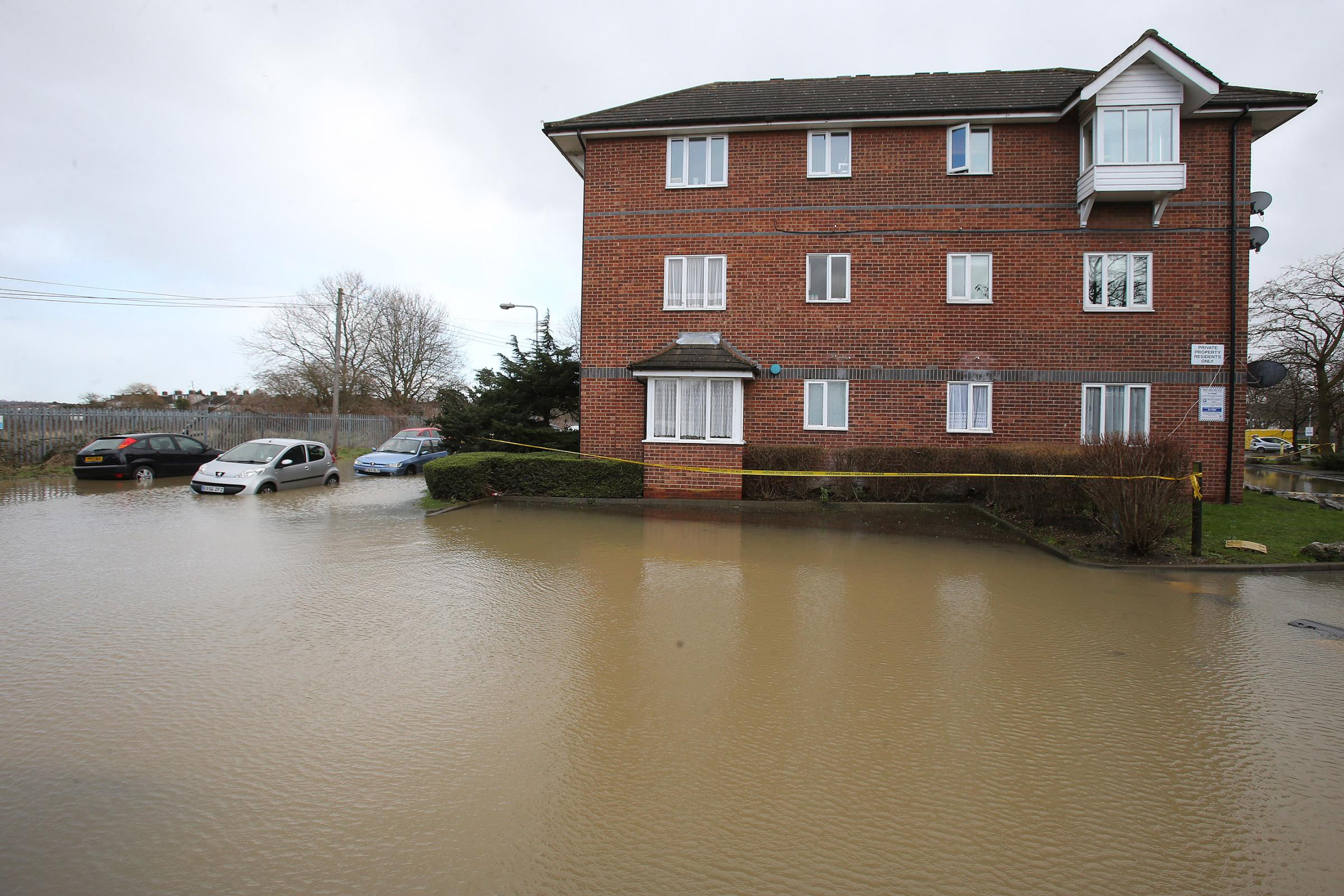 Flooding in Lower Hall Lane, Chingford.