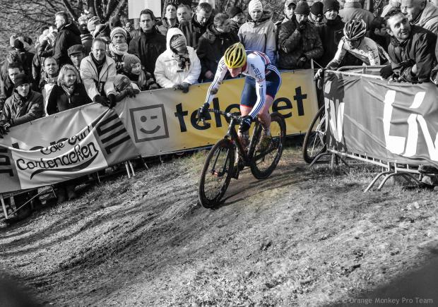 David Fletcher recently racing at the Cyclo-Cross World Championships in Hoogerheide, Holland.