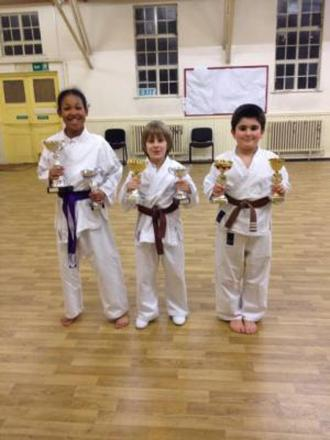 KARATE: Talented trio handed awards