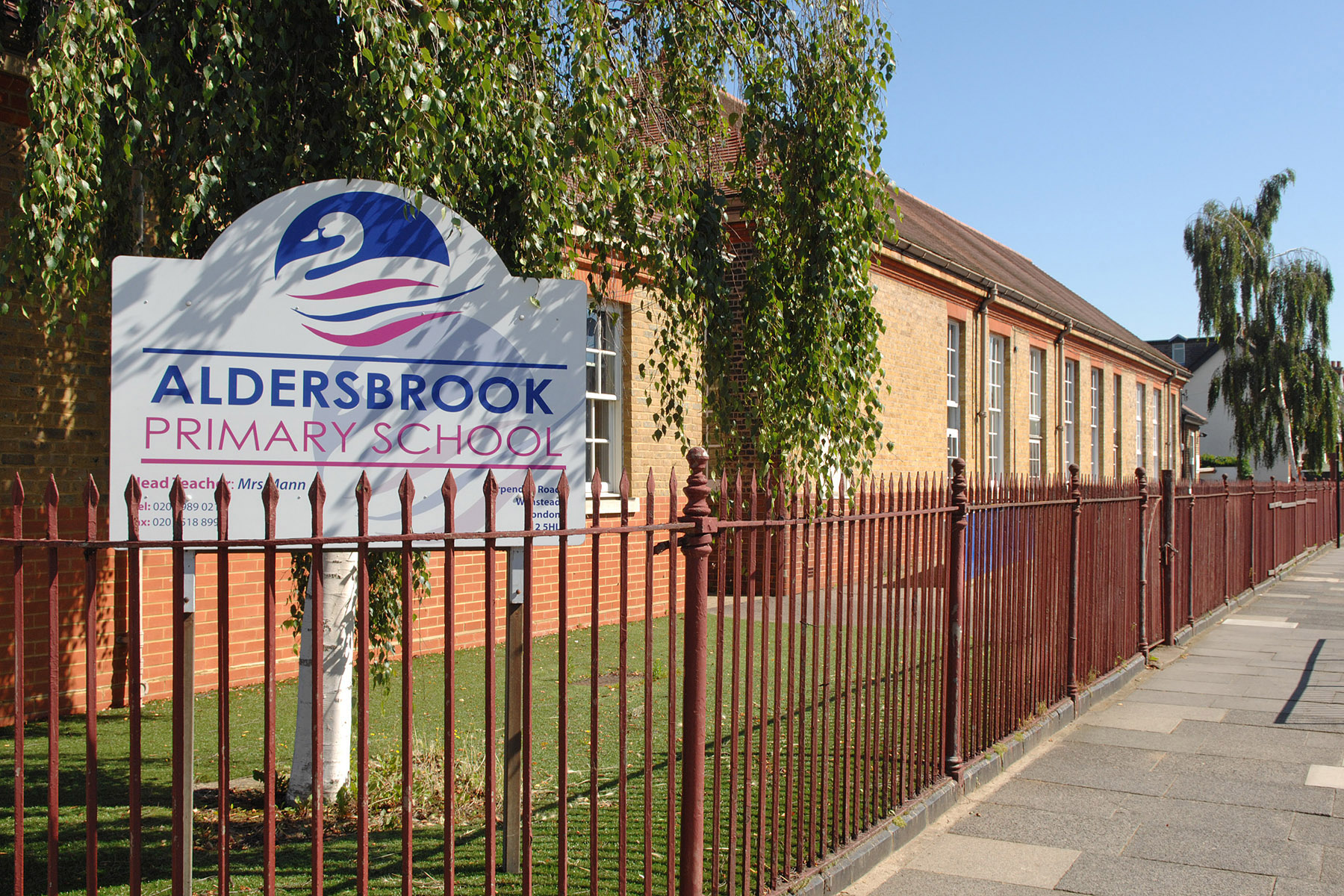 The fallen tree at Aldersbrook Primary School has led to concern over security