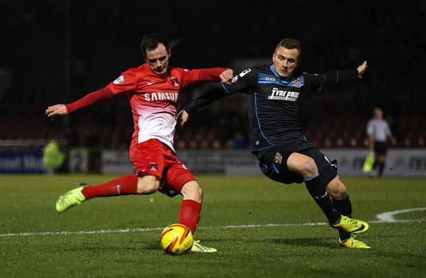 East London and West Essex Guardian Series: Chris Dagnall netted his first goal at home against Stevenage: Rob Newell