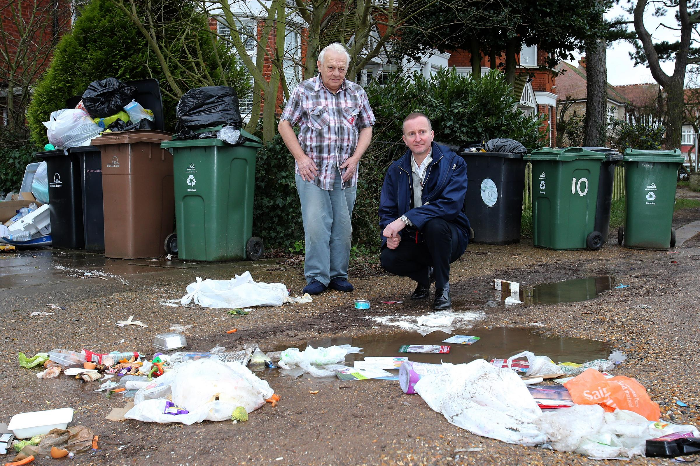 Rats move in as uncollected rubbish mounts