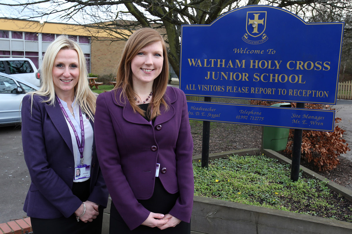 Assistant headteacher Jane Fielding and exectutive headteacher Vicky Rezaie
