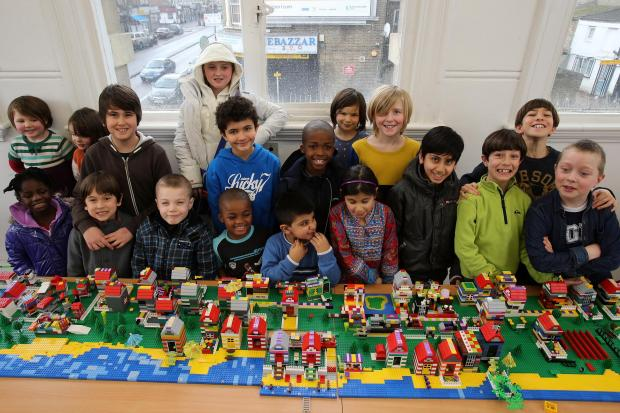 East London and West Essex Guardian Series: Children with their lego design