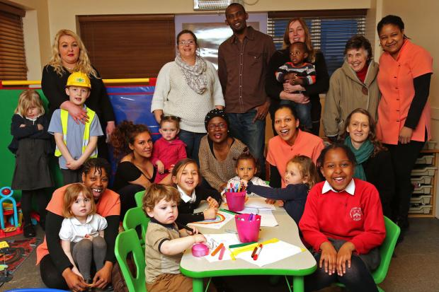 East London and West Essex Guardian Series: Parents children and staff at Valley Hill Nursery.