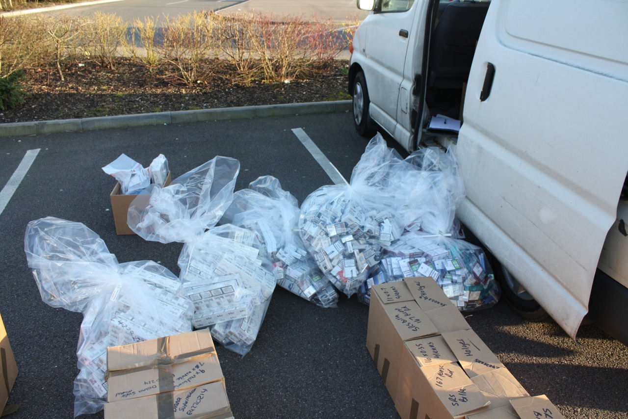 Alcohol and tobacco seized from shops
