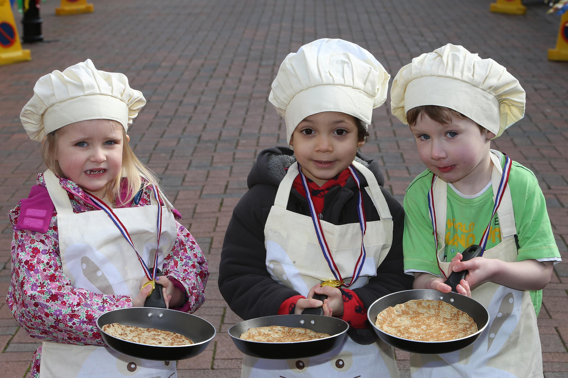 Record turnout for pancake races
