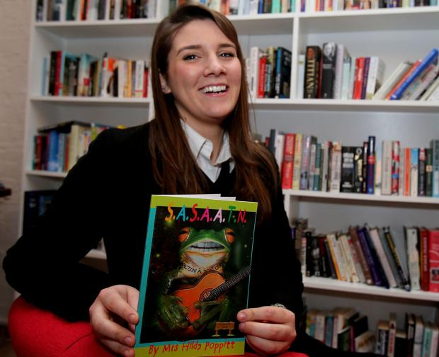 East London and West Essex Guardian Series: Lily Say with her book which has been shortlisted for a prize