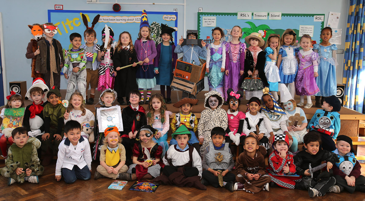 Children at  Nightingale Primary School dressed up for World Book Day