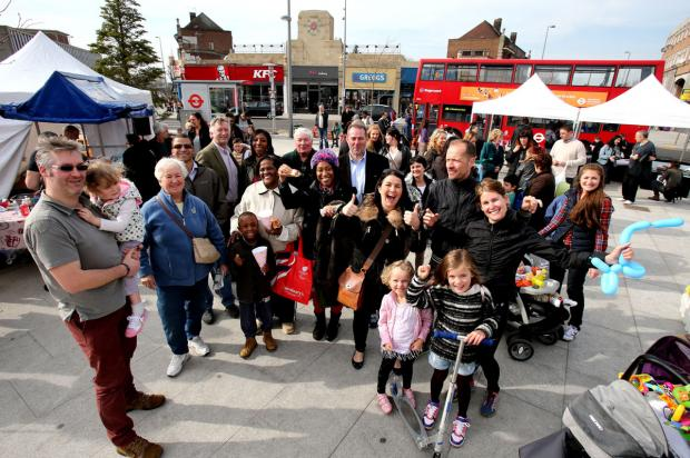 Crowds gather to celebrate re-launch of high street