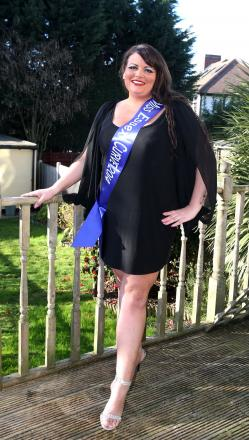 Kirstie Horner won the title of Miss Essex Curve and will compete with 11 others to be named Miss Britain Curve 2014
