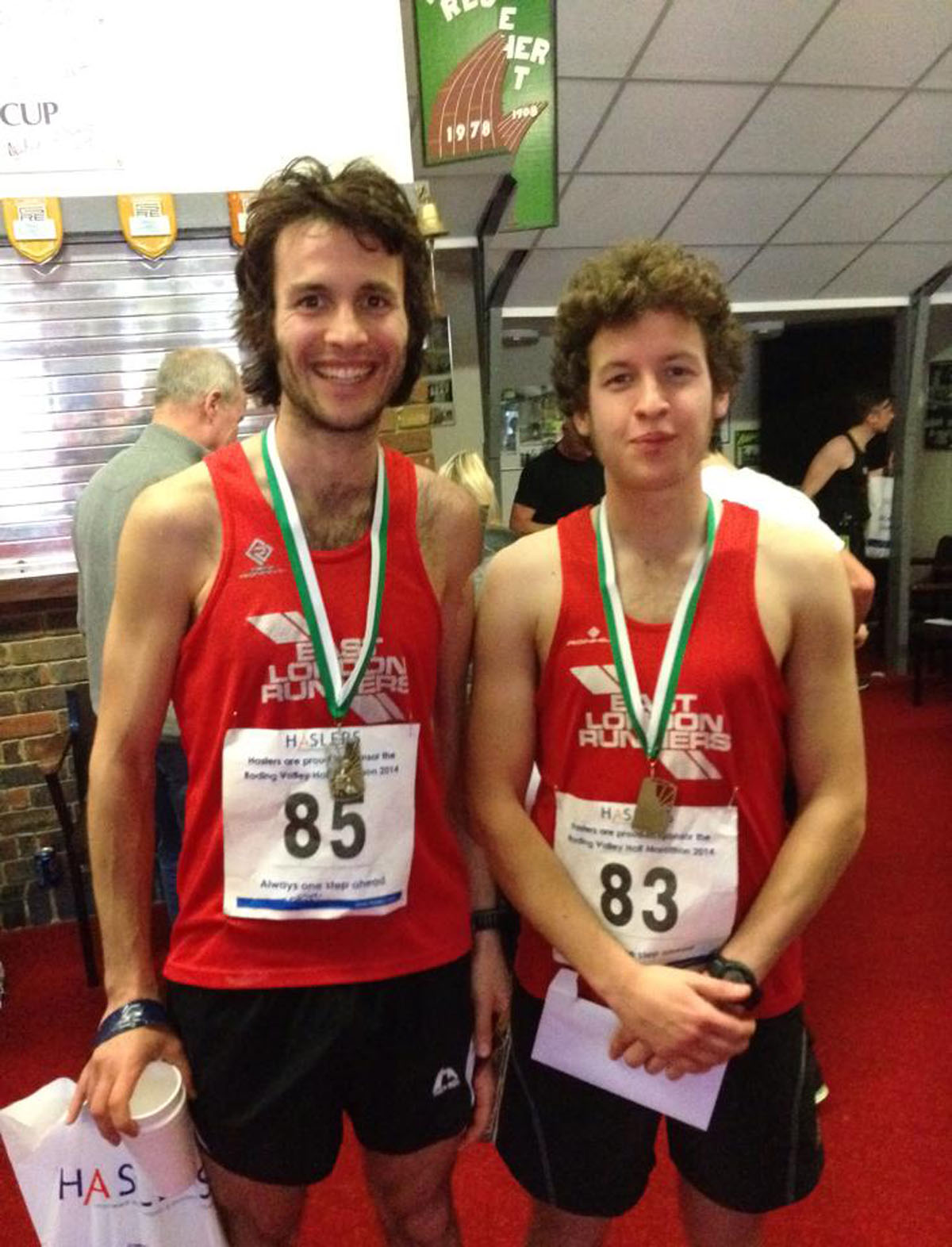 The Brown brothers (Patrick left, Euan right) both claimed top-1000 finishes in Sunday's London Marathon.