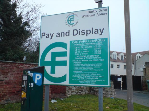 Questions about car park charges are included in the survey