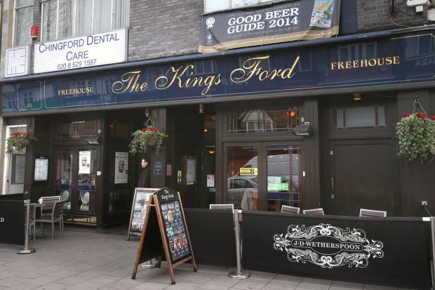 Police were called following reports of a group of men fighting outside the King's Ford Pub.