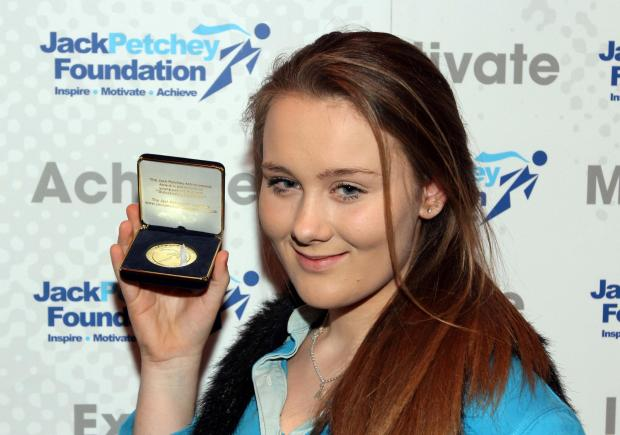 15-year-old Alice Green won an Brownies Leader award on Tuesday
