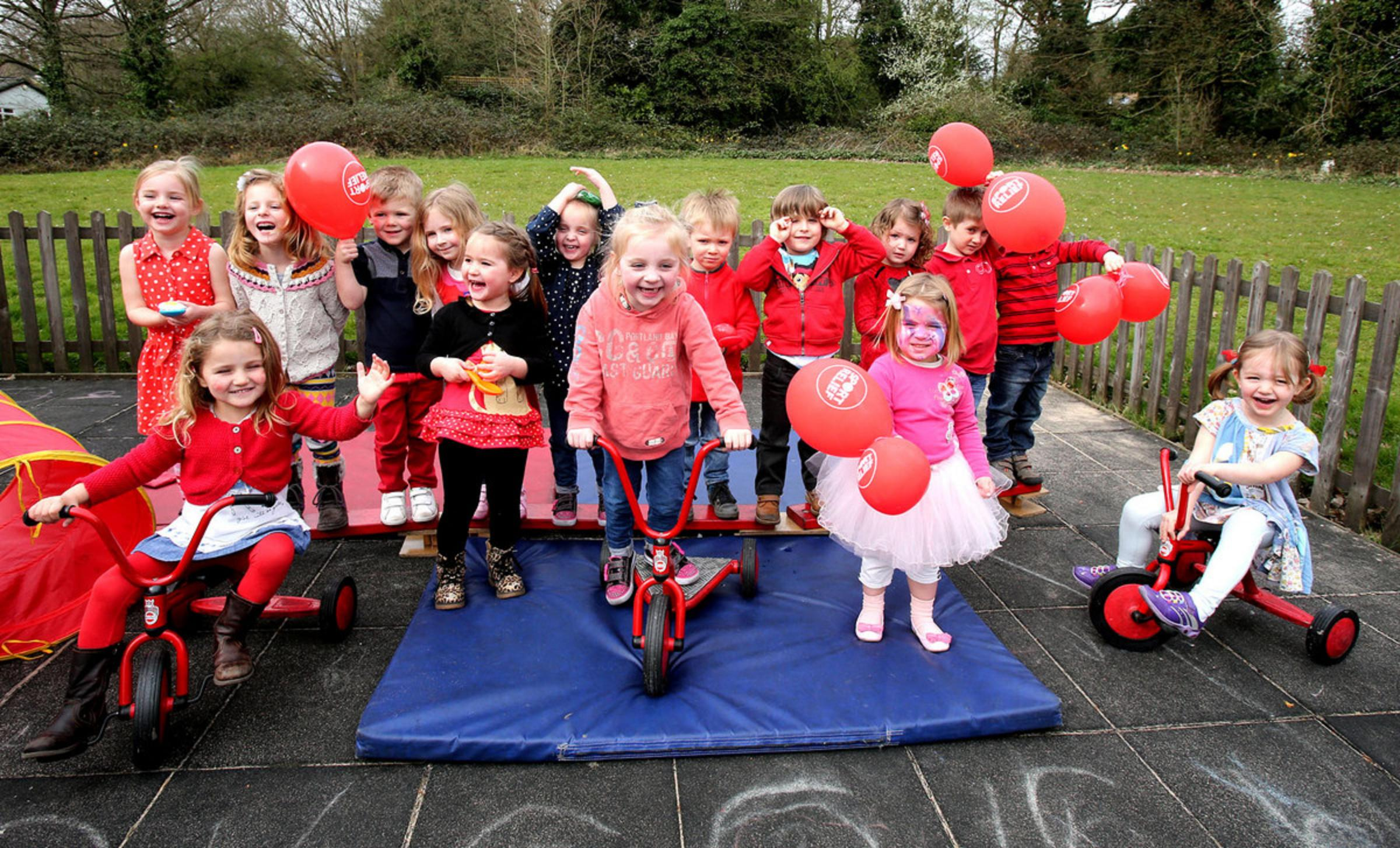Tots take part in playground fundraiser