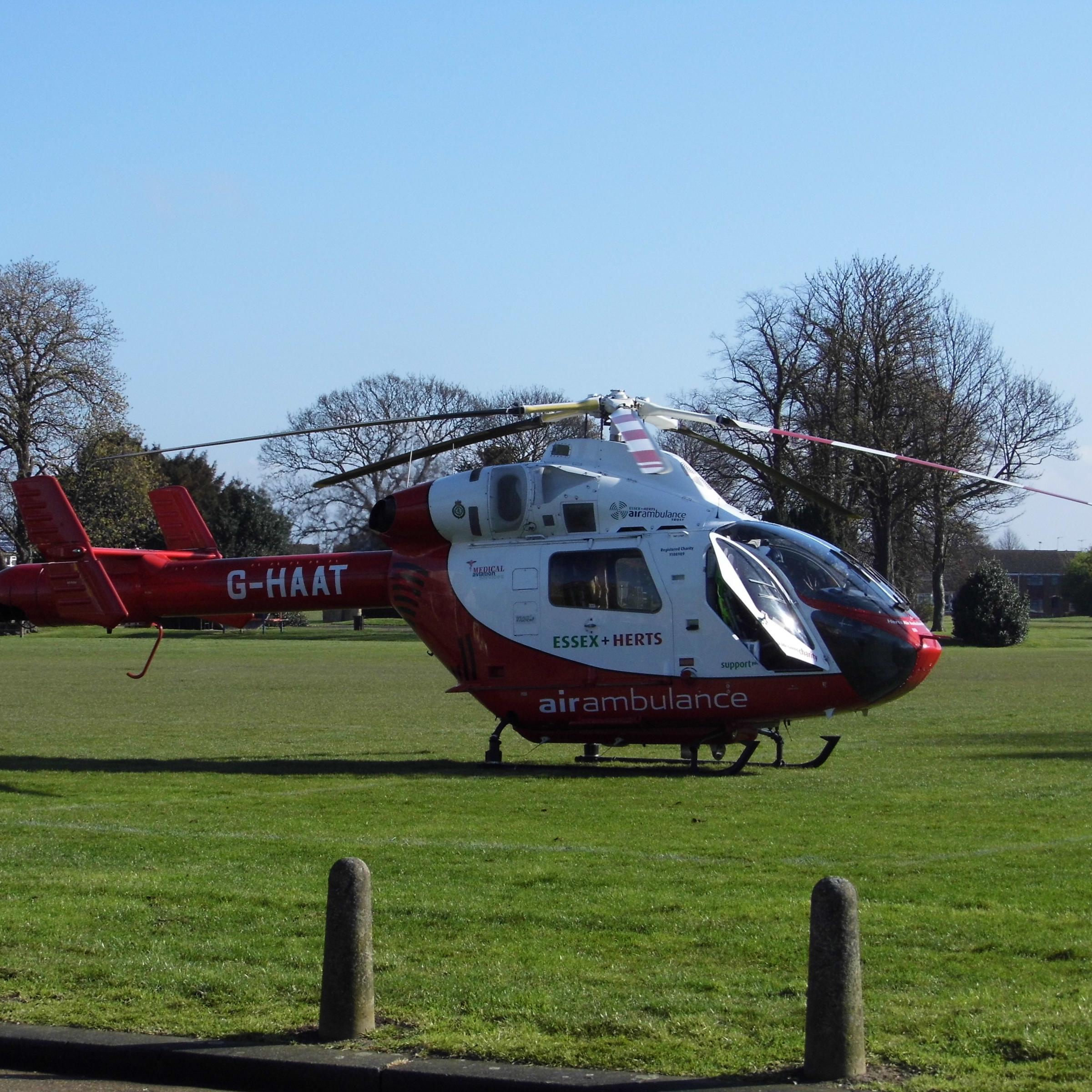 Man was airlifted to hospital