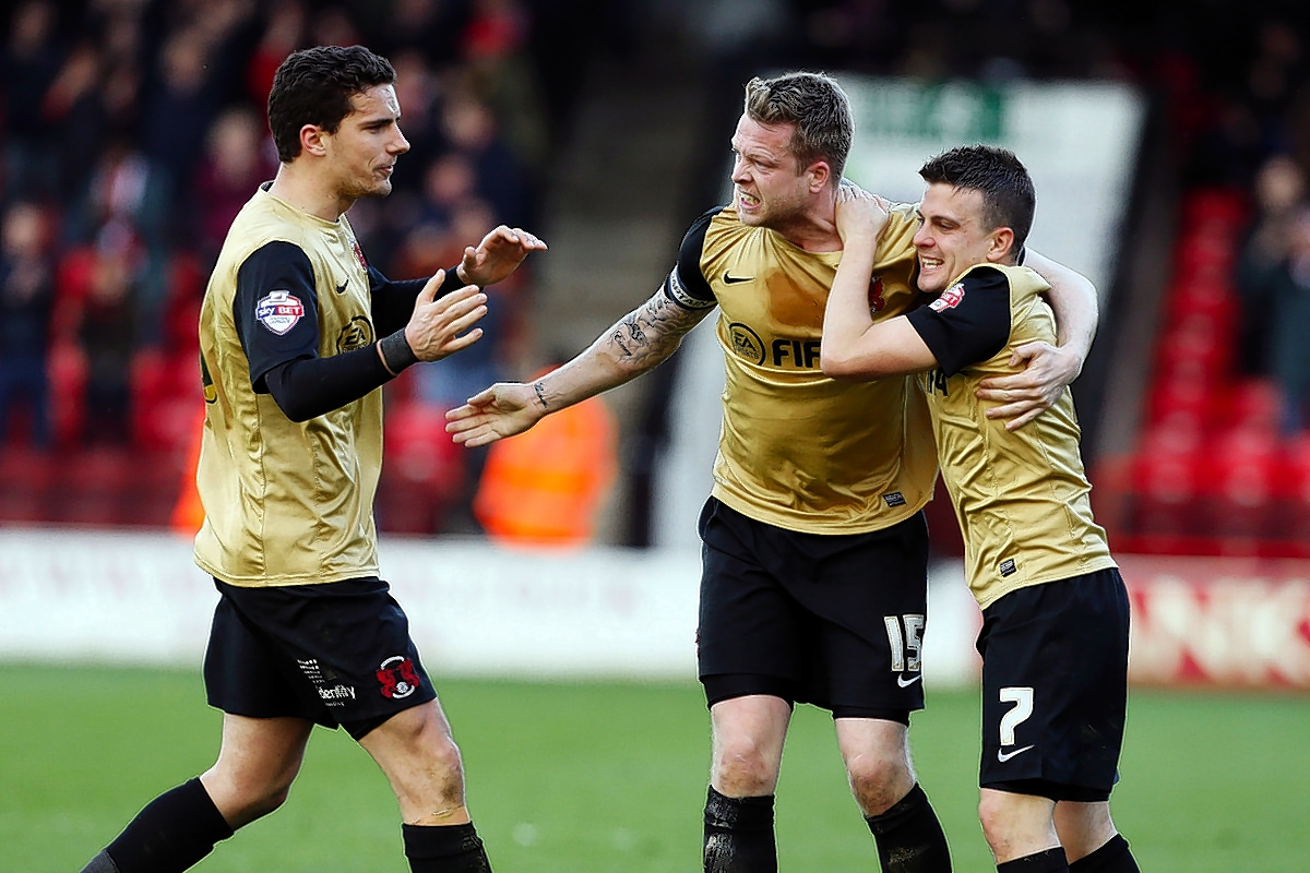 Nathan Clarke grabbed the equaliser for Orient at Walsall on Saturday: Simon O'Connor