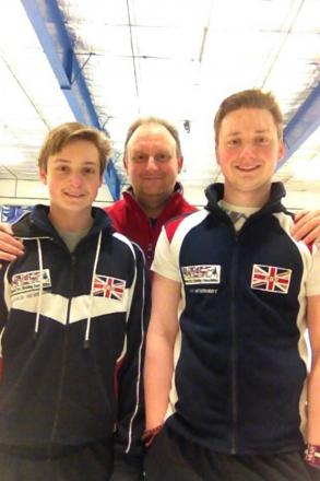 Christian Newberry and his two sons Graham (15) and Jack (18)