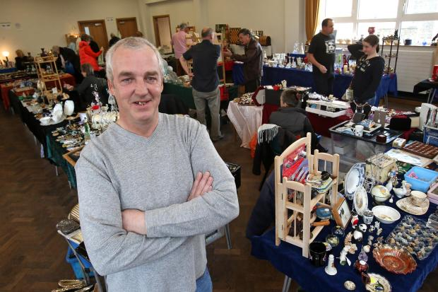 Dan Aldridge in Chingford antiques and vintage fair.