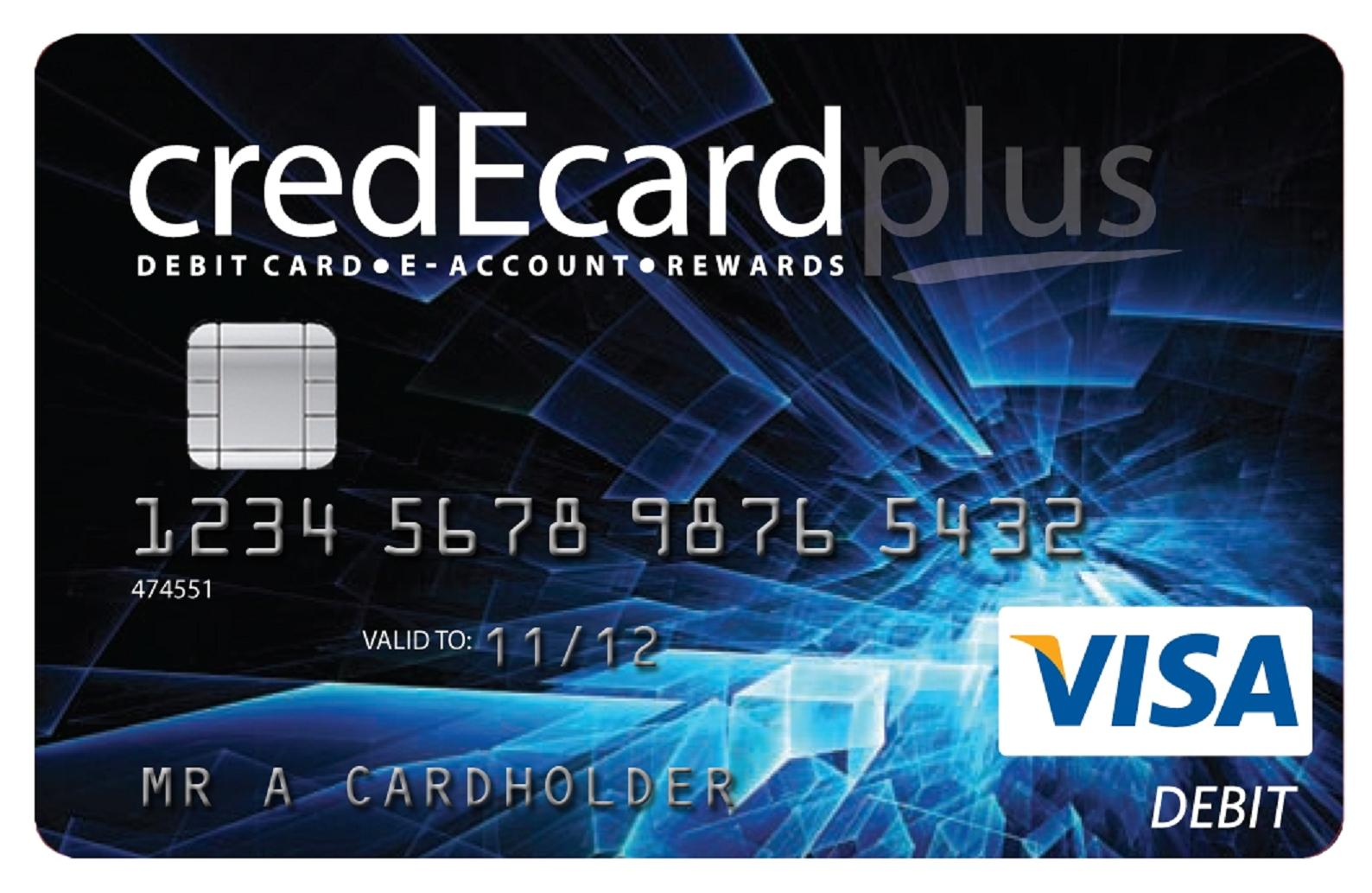 The new instant issue Visa debit credEcard