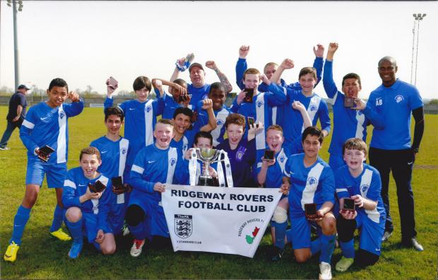 FOOTBALL: Ridgeway Rovers Under-13's triumph in Echo League Cup