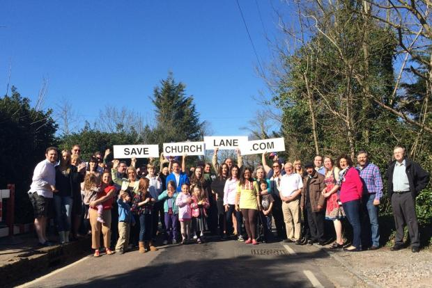 The successful Church Lane campaign group
