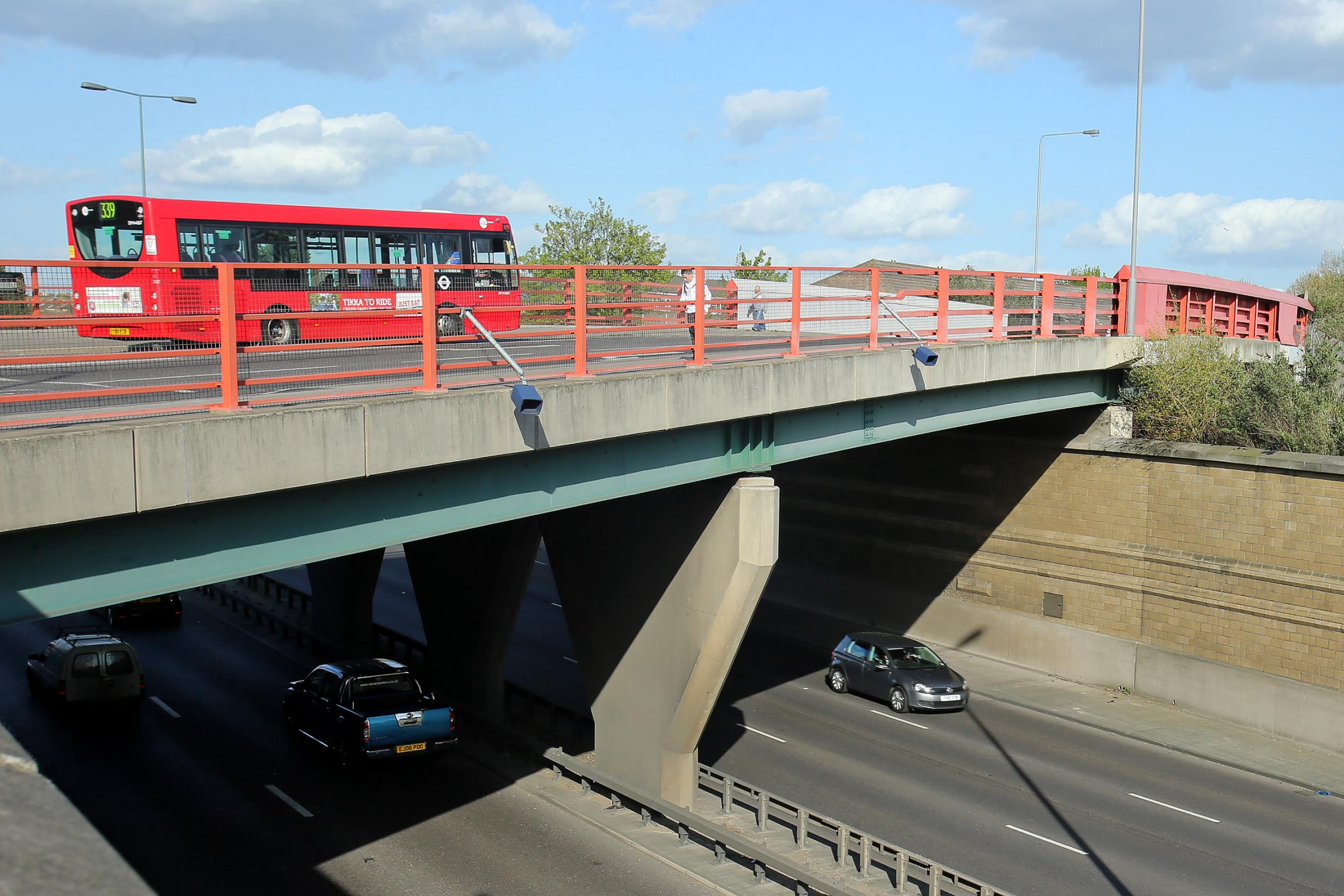 The suicidal girl was found on Cathall Road bridge
