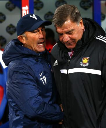 Billy Blagg expects a war of attrition when Tony Pulis (left) and Sam Allardyce (right) go head-to-head on Saturday. Picture: Action Images