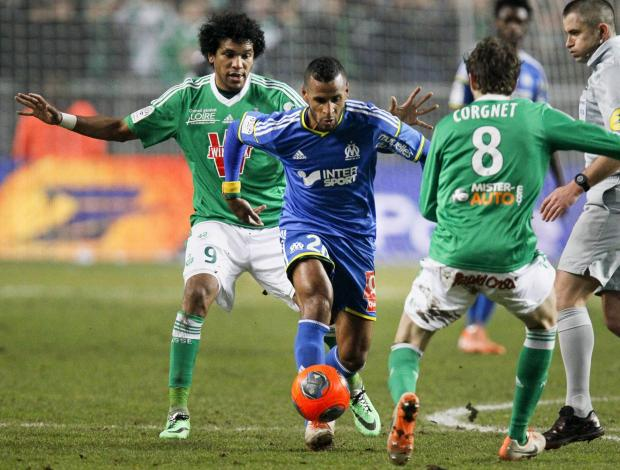 Romao in action for Marseille against St Etienne earlier this season. Picture: Action Images