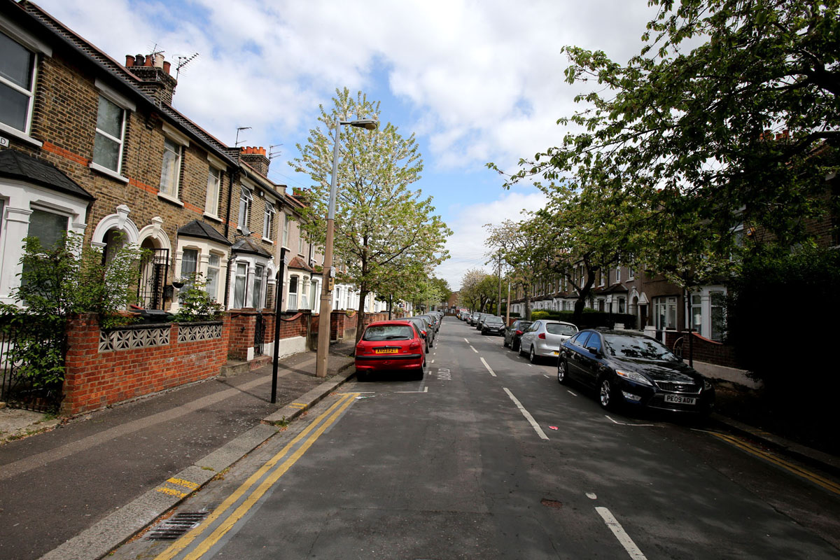 Balmoral Road in Leyton where the weapons were seized