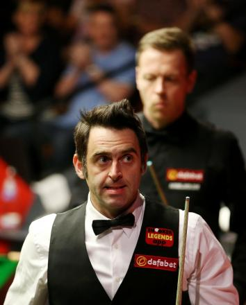 A 10-4 win over Robin Hull saw Ronnie O'Sullivan progress into round two of the World Snooker Championship. Picture: Action Images