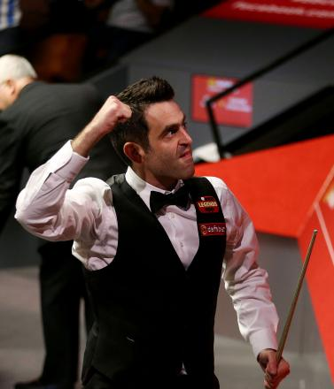 A punch of delight: Ronnie O'Sullivan. Picture: Action Images