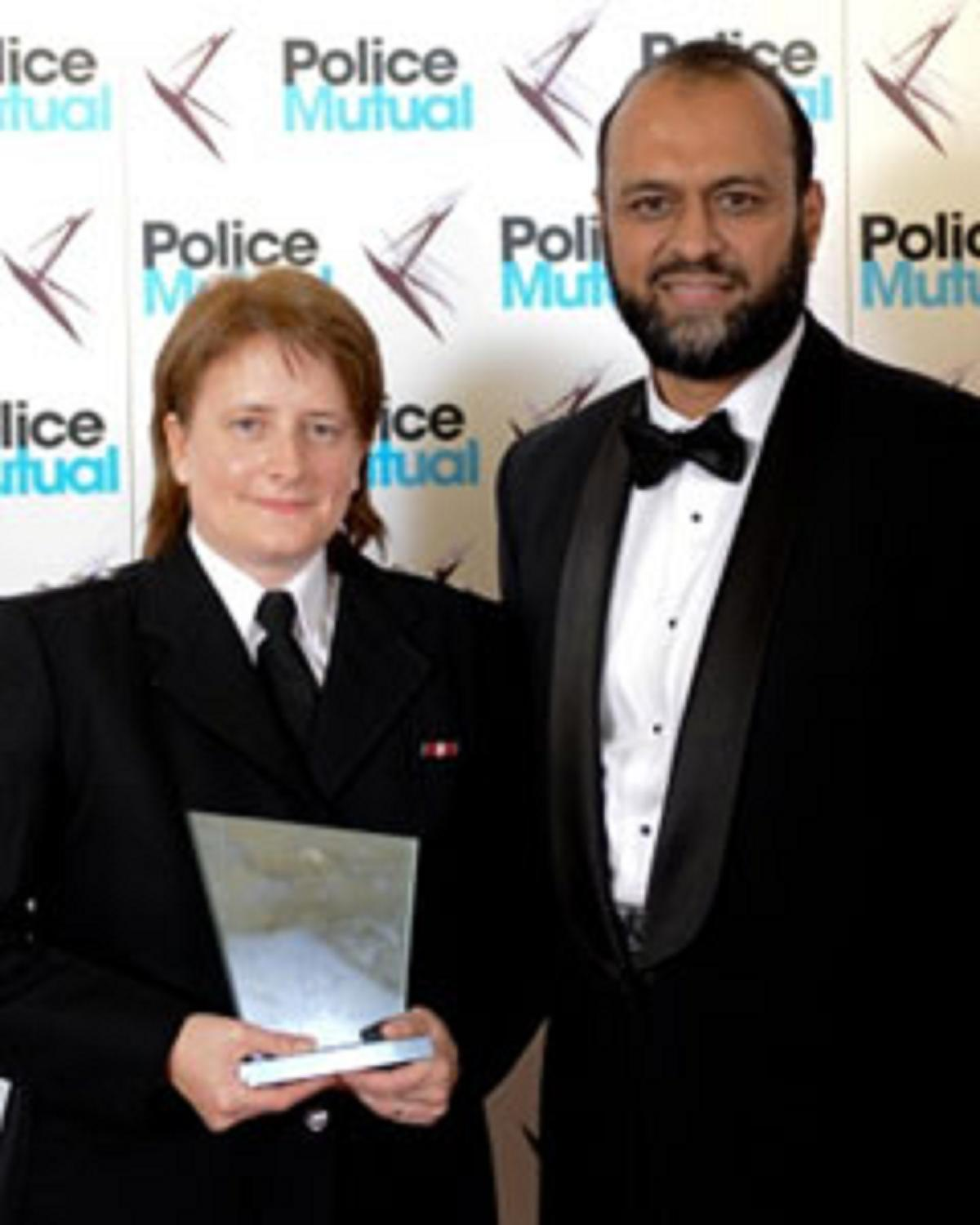Denise Morrisey with Javed Khan, chief executive of Victim Support, in 2010