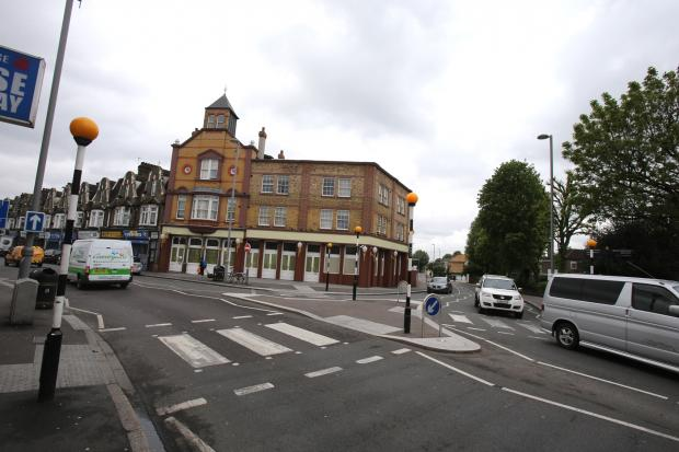 Two men were stabbed in High Road, Leyton, at the junction with Church Road
