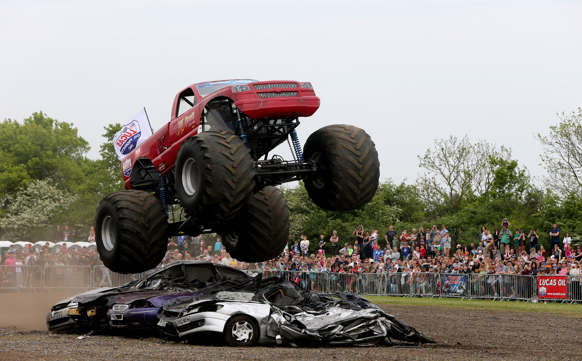 Monster truck and motorbike mayhem attracts spectators