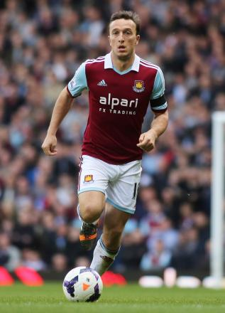 Mark Noble has been an ever-present for West Ham this season. Picture: Action Images