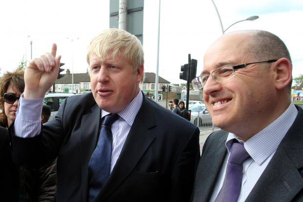 East London and West Essex Guardian Series: Mayor of London Boris Johnson and Leader of Redbridge Council Keith Prince in Gants Hill yesterday