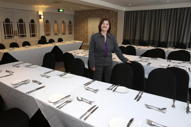 Sales manager Maria Souto in the newly refurbished Statesman suite which can hold up to 250 people