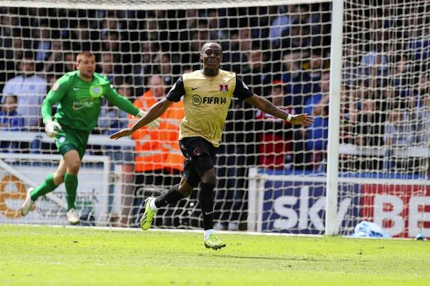 Moses Odubajo grabbed an equaliser at Peterborough on Saturday: Simon O'Connor