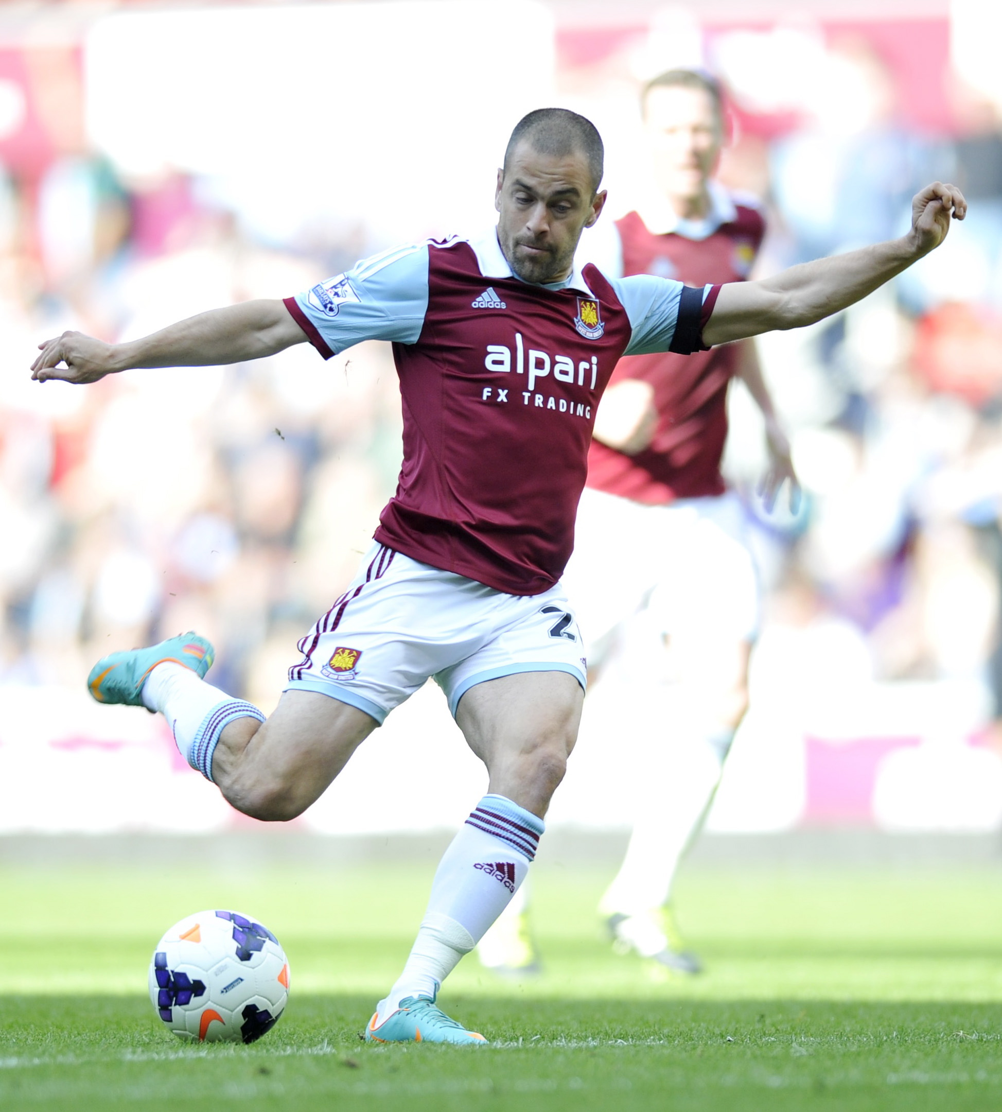 Joe Cole in action for West Ham last term. Picture: Action Images