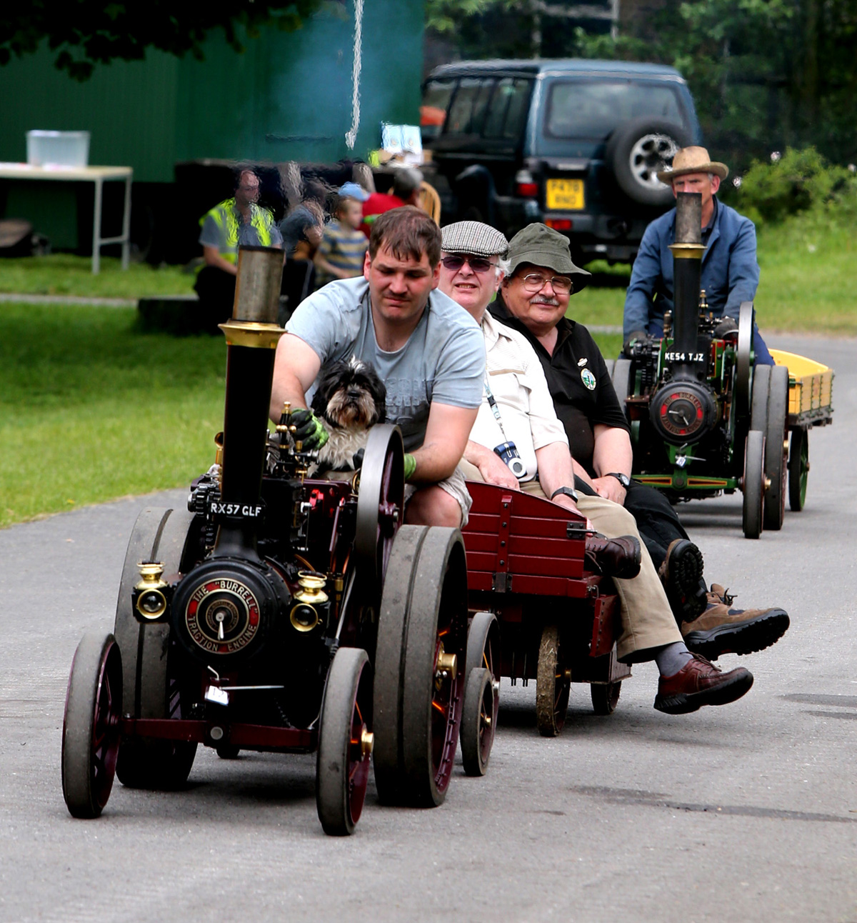Historic steam traction engines on show at event