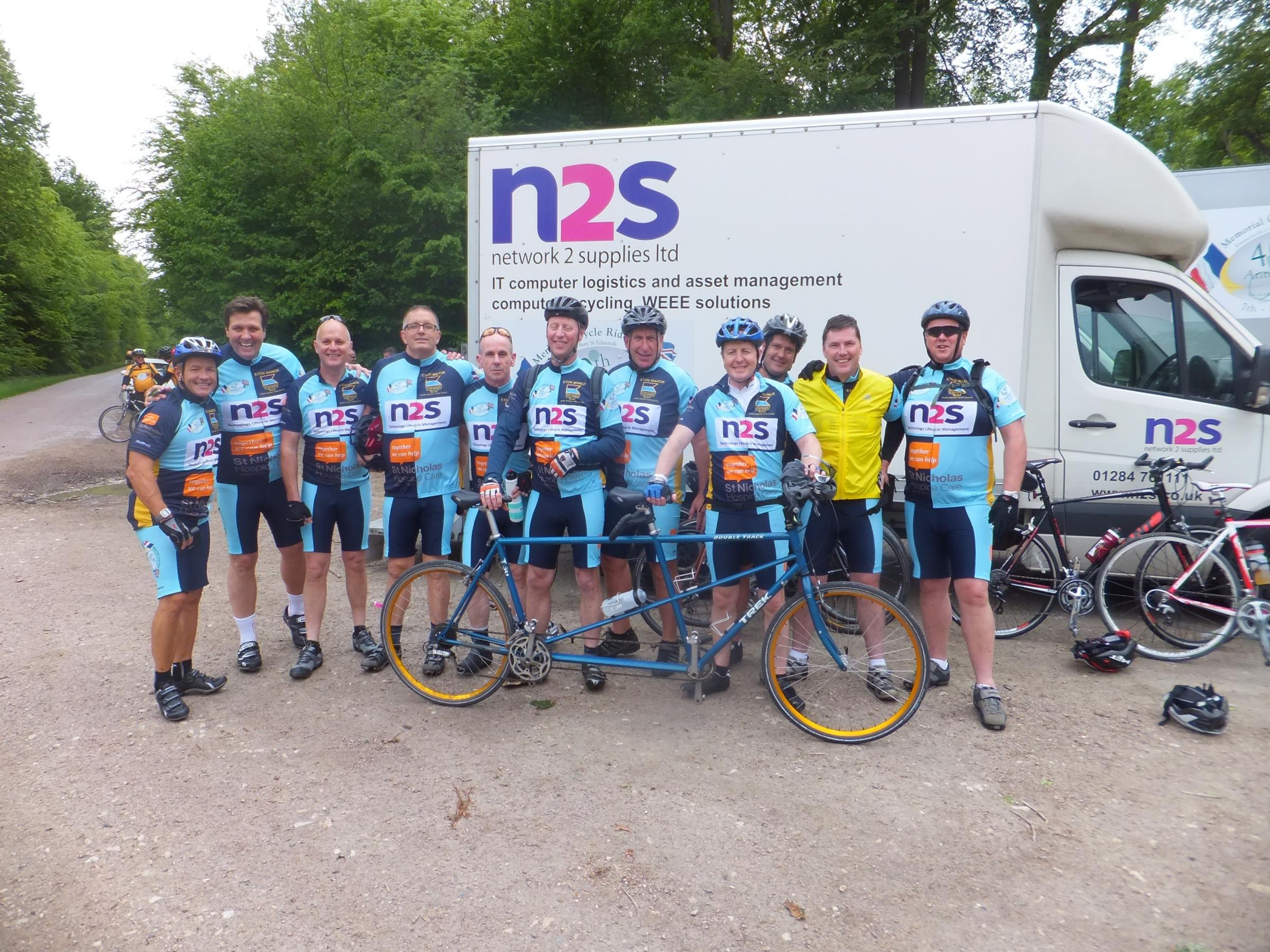 The 11 members of the Wanstead-based Eton Manor Cycling Club