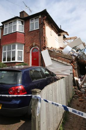 The collapsed house in Woodford Green