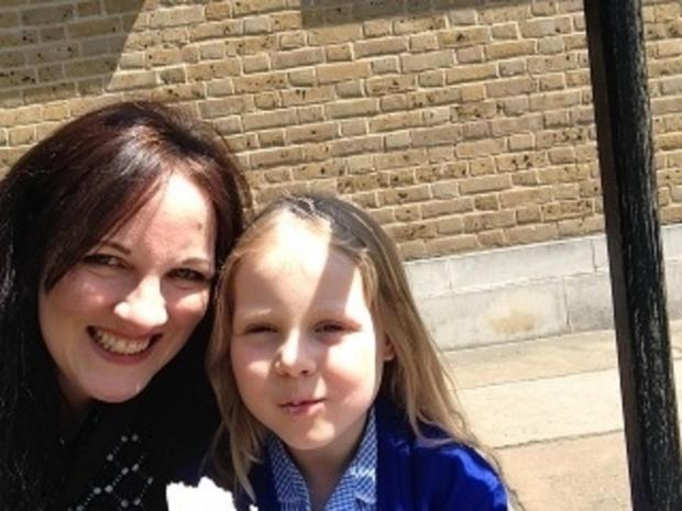 Whipps employee Carmel Evans with seven year-old daughter Erin