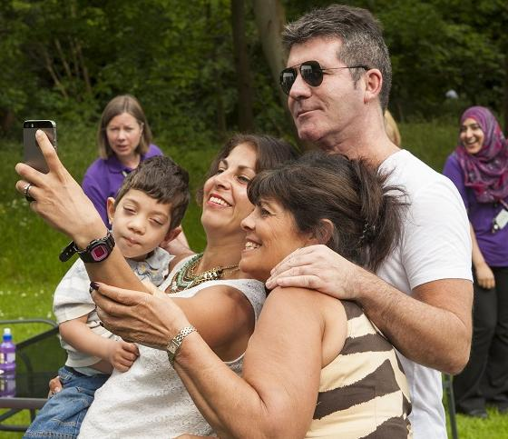 Simon Cowell visited Haven House Hospice last week