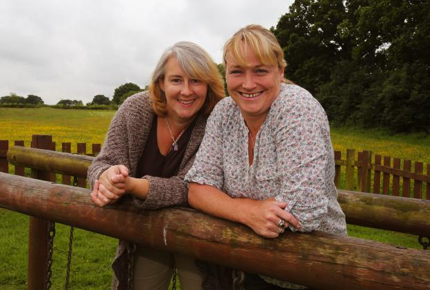 Sue Malpass and Jennie Russell from North Weald Mums