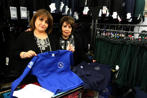 Janet Cohen and her mother Victoria Samuel have sold uniforms for 47 years