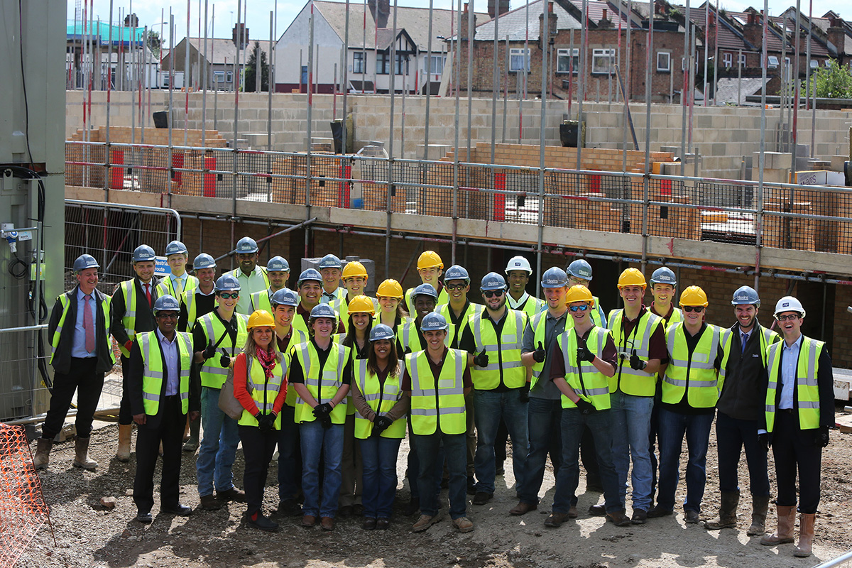 American students visit £50m housing site